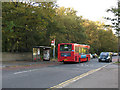TQ4475 : Bus stop on Rochester Way, Falconwood by Stephen Craven