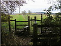 SP6714 : Footpaths heading out of the copse by Shaun Ferguson