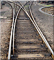 TL0997 : Fan of sidings at Wansford railway station by Andy F