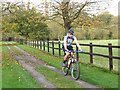 SJ7966 : Cyclist in the Dane Valley by Stephen Craven