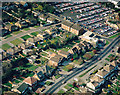 TQ7786 : Aerial view of Essex Way and School Lane car park, Benfleet by Edward Clack