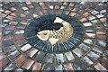 SO7746 : Fish mosaic, Hollymount church, Malvern : Week 50