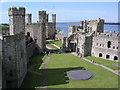 SH4762 : Caernarfon Castle by Nigel Dibb