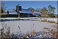 TQ2250 : Buckland Pond in snow by Ian Capper