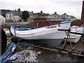 NZ3671 : 'Winnie S' fishing coble, Cullercoats by Andrew Curtis