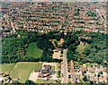 TQ7888 : Aerial view of Kingston School and St Peter's Church, Thundersley by Edward Clack