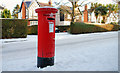 J3874 : Pillar box and snow, Belfast by Albert Bridge
