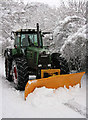 SU7049 : Tractor-cum-snowplough, Four Lanes End : Week 1