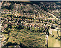 TQ8187 : Daws Heath Road and Hadleigh allotments by Edward Clack