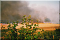 SU7594 : Stubble Burning in the Chilterns by john shortland
