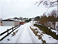 SD6930 : Snow bound road to Stone Hill Nurseries by Alexander P Kapp