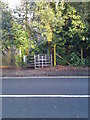 SU4713 : Kissing Gate Exiting Telegraph Woods On to A27 Moorhill Road by dinglefoot