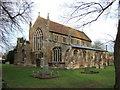 TF4216 : Tydd St Giles church by Richard Humphrey