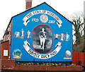 J3169 : Tommy Dickson mural, Belfast by Albert Bridge