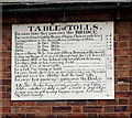 SJ6703 : Toll tariff plaque on wall of toll-house at Ironbridge by Andy F