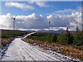 NG3248 : Approaching the wind farm by Richard Dorrell