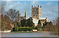 SO8832 : Tewkesbury Abbey Flood Plain by Mike Baldwin