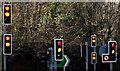 J3368 : Hydebank traffic lights, Belfast by Albert Bridge