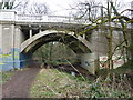 ST5577 : Bridge over the River Trym, decorated by Peter Barr