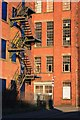 SJ9856 : Mill with cast iron fire escape : Week 6