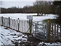 TQ8431 : Kissing Gate near Rolvenden Primary School by David Anstiss
