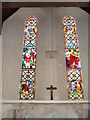 SU9006 : Stained glass window above the altar at St Andrew, Tangmere by Basher Eyre