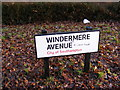 SU3814 : Windermere Avenue Sign by Adrian Cable