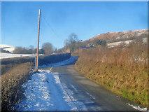 SO2454 : Lane junction near Llan-y-Felin by Trevor Rickard