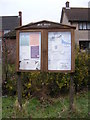 TM1360 : Mill Green Village Notice Board by Adrian Cable