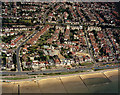 TQ8685 : Aerial view of Southend seafront: Paddling pool and Chalkwell Esplanade by Edward Clack