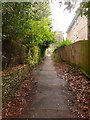 SZ0891 : Bournemouth: footpath B16 between Braidley and Bodorgan Roads by Chris Downer