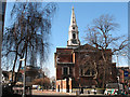 TQ3279 : St George the Martry, Southwark: east end : Week 9