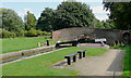SP1592 : Minworth Bottom Lock and Caters Bridge, Birmingham by Roger  Kidd