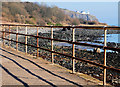 J4892 : Rusty fence, Whitehead by Albert Bridge