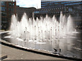 SJ8498 : Piccadilly Gardens fountains by David Dixon