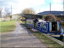 ST7766 : Canal boat, Batheaston by Miss Steel
