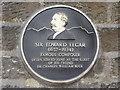 Photo of Edward Elgar black plaque