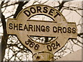 ST3602 : Thorncombe: detail of Shearing's Cross finger-post by Chris Downer