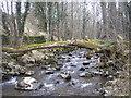 NN9451 : Natural bridge over the Balnaguard Burn by Sandy Gemmill