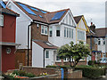 TQ2081 : Solar water heating and roof windows, North Acton by David Hawgood
