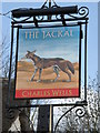TL0558 : The Jackal pub sign by Michael Trolove
