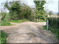 ST6461 : Permissive/Green Lane junction with Byway by James Ayres