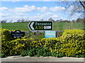 TL6114 : A30 sign to Penzance at Trotters Farm by PAUL FARMER