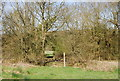 TQ7236 : High Weald Landscape Trail waymark near Smugley Farm by N Chadwick