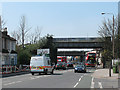 TQ4078 : Railway bridge over Woolwich Road by Stephen Craven