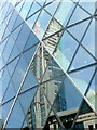 TQ3381 : Reflections in 30 St. Mary Axe by Jonathan Billinger