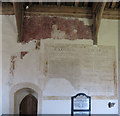 SU7897 : Wall paintings in St Mary's, Radnage by David Hawgood