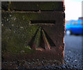 J5081 : Bench Mark, Bangor by Rossographer