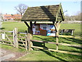 TM3365 : Bruisyard Village Notice Board by Adrian Cable