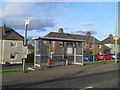 NS6962 : Bus stop, Old Edinburgh Road by Stephen Sweeney